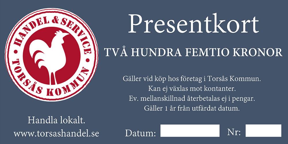 Handel & service Torsås kommun Presentkort 2019